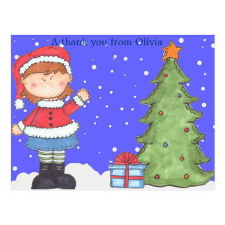 Christmas Thank You Can be personalized Postcard