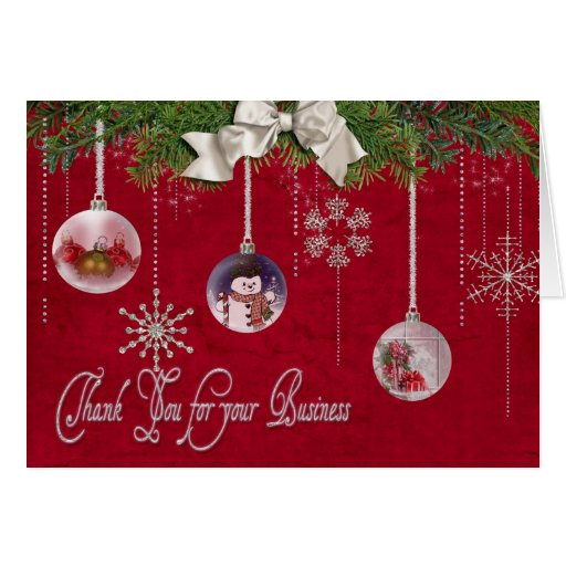 Christmas Thank You for  your customers Greeting Card