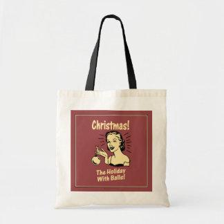 Christmas: The Holiday With Balls Canvas Bag