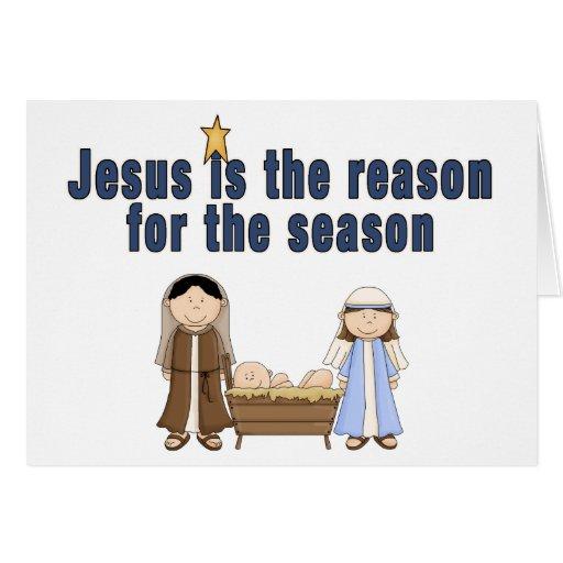 Christmas Theme Baby Jesus Mary Joseph Card