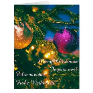 Christmas theme with 2 Christmas ball...