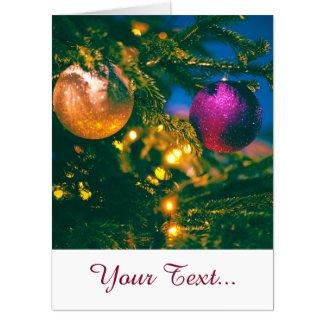 Christmas theme with 2 Christmas ball... Card