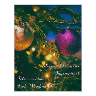 Christmas theme with 2 Christmas ball... Invitation