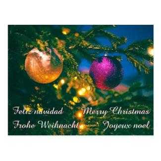 Christmas theme with 2 Christmas ball... Postcard
