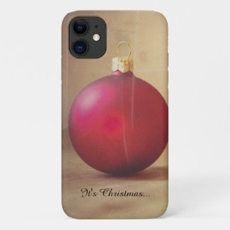 Christmas theme with Christmas ball iPhone 11 Case