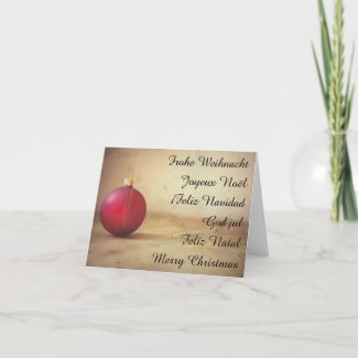 Christmas theme with Christmas ball Holiday Card
