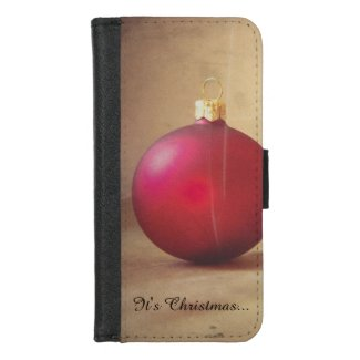 Christmas theme with Christmas ball iPhone 8/7 Wallet Case
