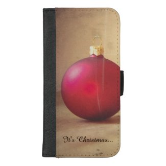 Christmas theme with Christmas ball iPhone 8/7 Plus Wallet Case