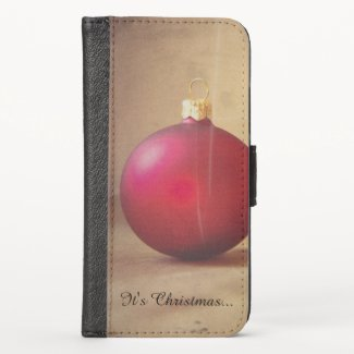 Christmas theme with Christmas ball iPhone XS Wallet Case