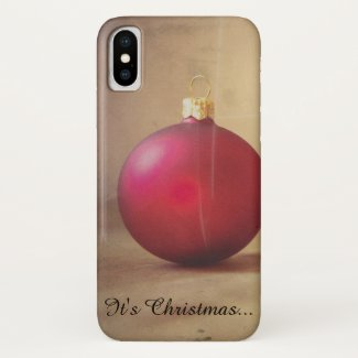 Christmas theme with Christmas ball iPhone X Case