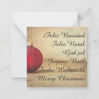 Christmas theme with Christmas ball Note Card