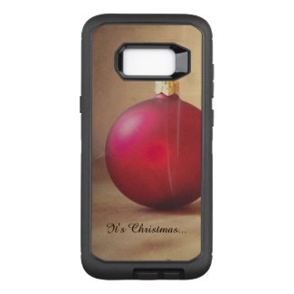 Christmas theme with Christmas ball OtterBox Defender Samsung Galaxy S8+ Case