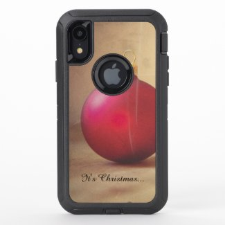 Christmas theme with Christmas ball OtterBox Defender iPhone XR Case