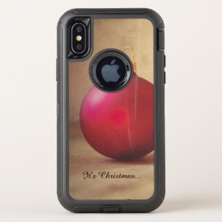 Christmas theme with Christmas ball OtterBox Defender iPhone XS Case