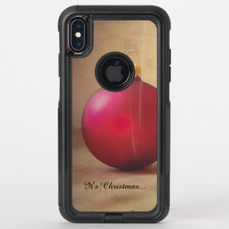 Christmas theme with Christmas balle OtterBox Commuter iPhone XS Max Case