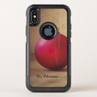 Christmas theme with Christmas balle OtterBox Commuter iPhone X Case