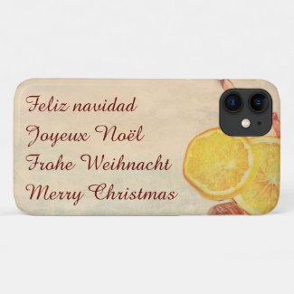 Christmas theme with Fruits iPhone 11 Case