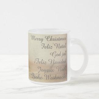 Christmas theme  with Fruits Frosted Glass Coffee Mug