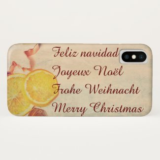 Christmas theme with Fruits iPhone X Case