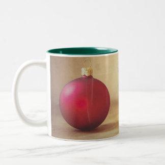 Christmas theme  with Fruits Two-Tone Coffee Mug