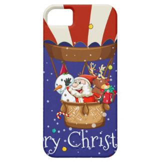 Christmas theme with Santa on balloon iPhone SE/5/5s Case