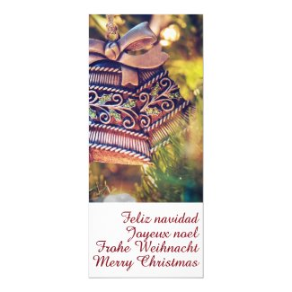 Christmas theme with two bells invitation