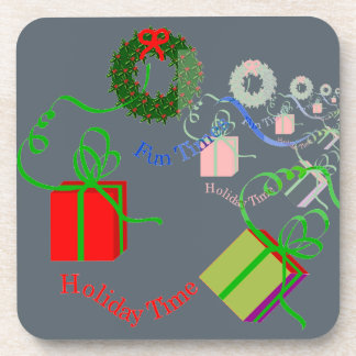 Christmas-Themed Drink Coasters