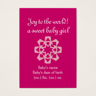 Christmas themed pocket birth announcement business card