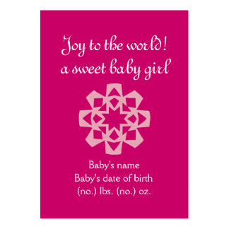 Christmas themed pocket birth announcement large business card