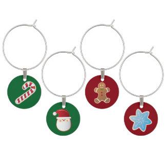 christmas themed wine charms holiday decor wine glass charm