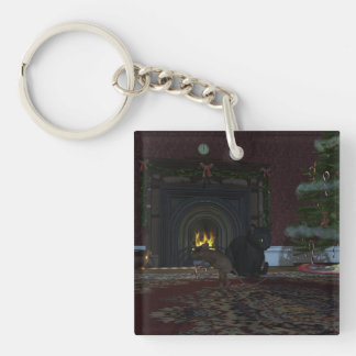 Christmas Thief Keychain