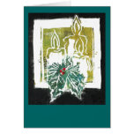 Christmas Three Candles and Holy Sprig Greeting Cards