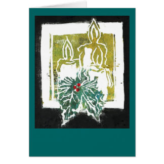 Christmas Three Candles and Holy Sprig Card