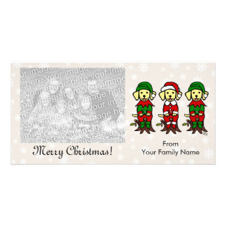 Christmas Three Yellow Lab Puppies Card