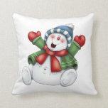 Christmas Throw Pillow/Snowman Throw Pillow