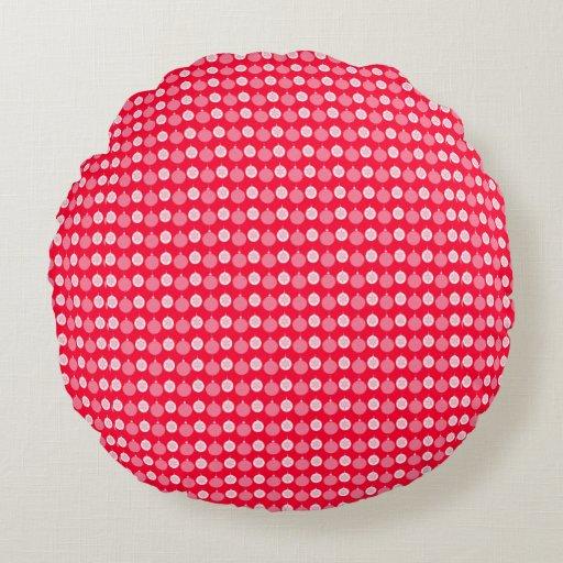 Christmas Throw Pillows Custom Round Zazzle
