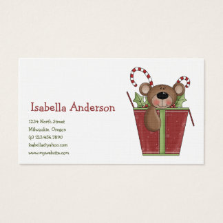 Christmas Thyme · Box with Gifts Business Card