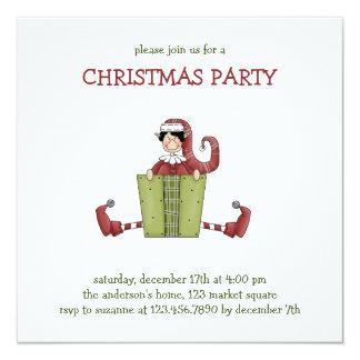 "Christmas Thyme · Elf 5.25"" Square Invitation Card"