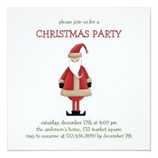 "Christmas Thyme · Santa Claus 5.25"" Square Invitation Card"