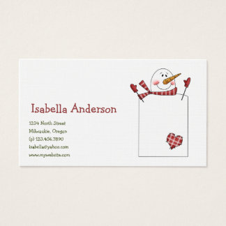 Christmas Thyme · Snowman Business Card