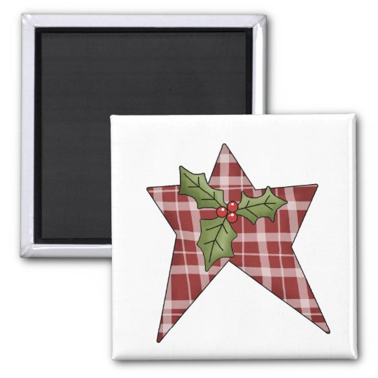 Christmas Thyme · Star & Holly Magnet