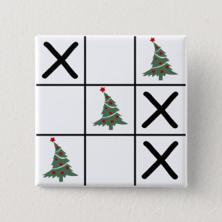 Christmas Tic Tac Toe Button
