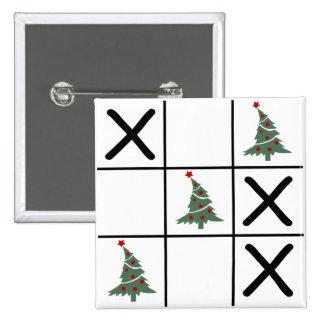 Christmas Tic Tac Toe Button