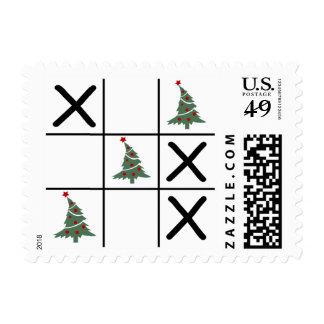 Christmas Tic Tac Toe Postage