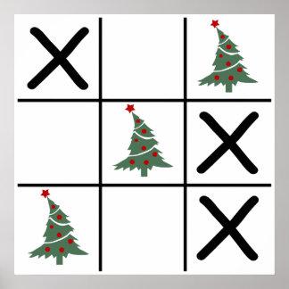 Christmas Tic Tac Toe Poster