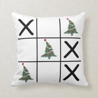 Christmas Tic Tac Toe Throw Pillow