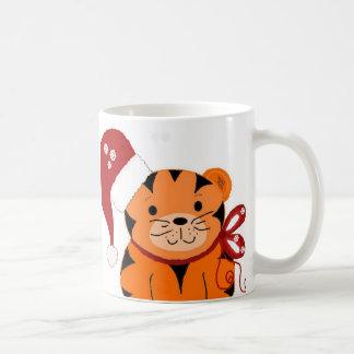 Christmas Tiger Classic White Coffee Mug