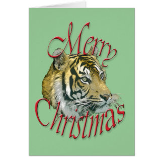 Christmas Tiger Greeting Card