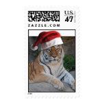 Christmas Tiger Postage Stamp