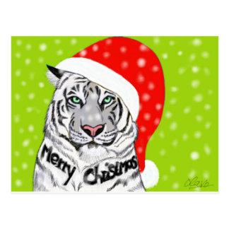 Christmas tiger postcard